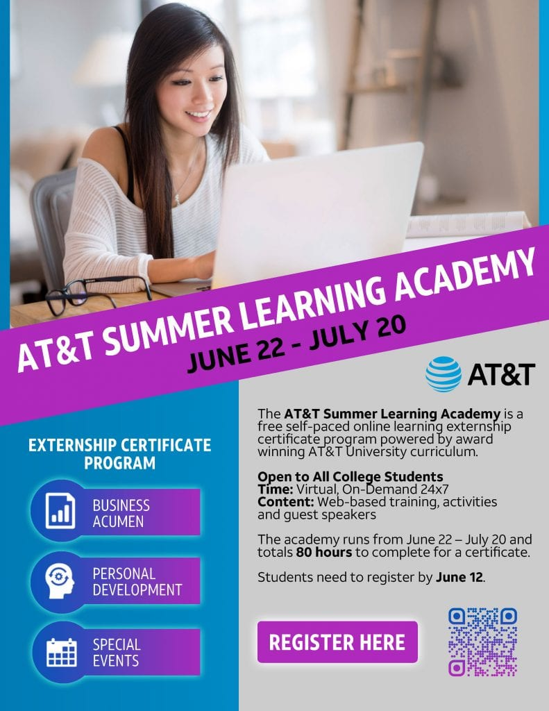 AT&T Summer Learning Academy operates from June 22-July 20. Register today!
