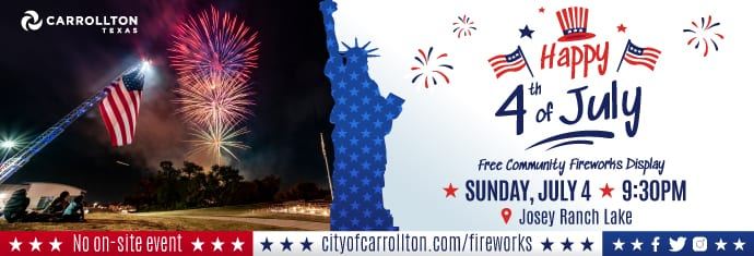 City of Carrolton Presents 4th of July Community Fireworks Display