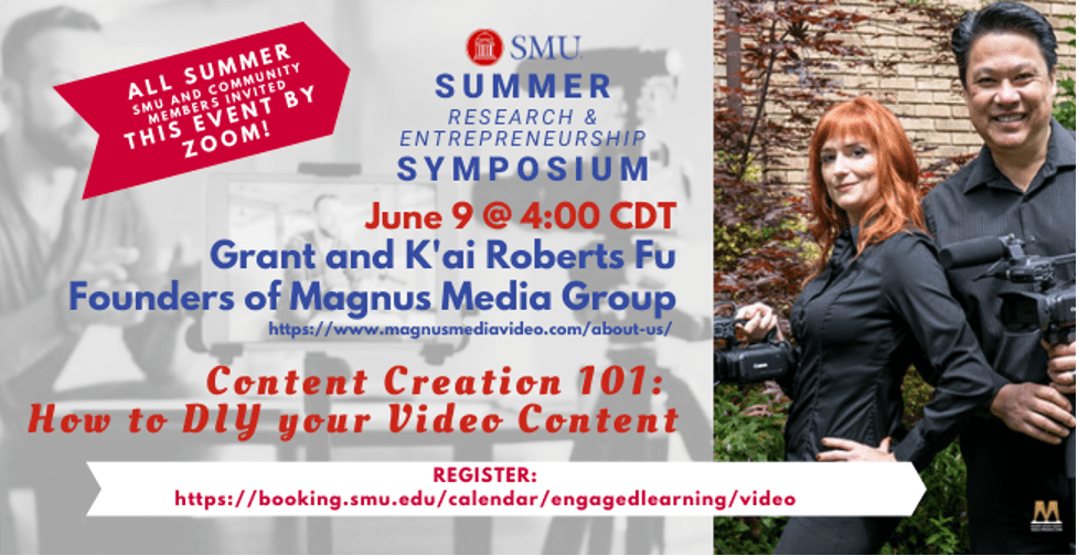 Informational Flyer for Content Creation 101 Zoom event